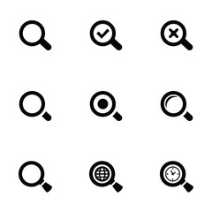 search icons set