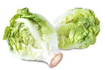 Bunch Head of Fresh Green Salad Isolated