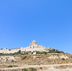 Citadella old fortified city on Gozo island, Malta