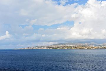 view of punta pezzo cape in Reggio Calabria