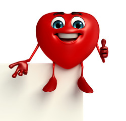 Heart Shape character with sign