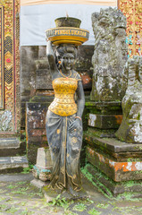 Statue at the Pura Ulun Danu Bratan temple in Bali