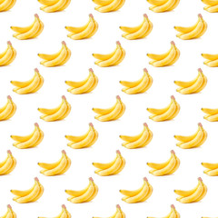 Seamless background with yellow bananas