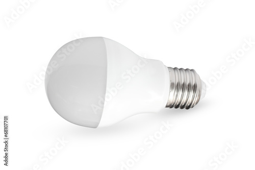 Isolated LED light bulb on white background - 68107701