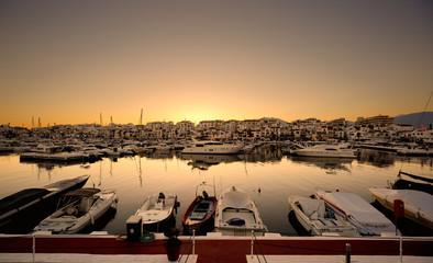 Luxury yachts and motor boats in Puerto Banus, Marbella, Spain