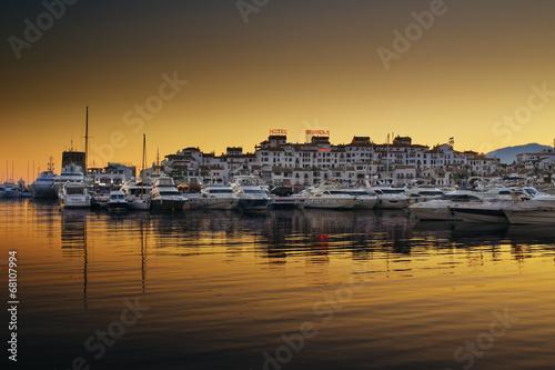 Luxury yachts and motor boats in Puerto Banus, Marbella, Spain - 68107994