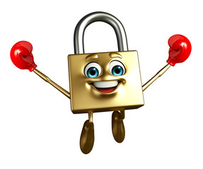 Lock Character with Boxing Gloves