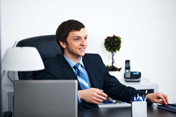 Office worker in office
