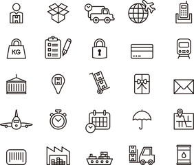 Cargo, Delivery, Freight Shipping & Transport icons