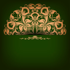 Elegant background with filigree ornament