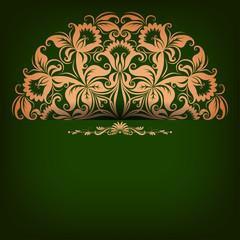 Elegant background with filigree ornament