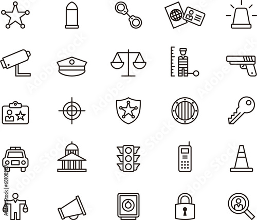 Police icons - 68108589