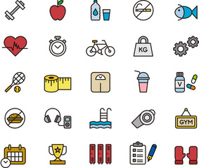 Fitness & Health Care icons