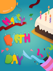 Happy Birthday greeting card design