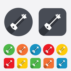 Key sign icon. Unlock tool symbol.