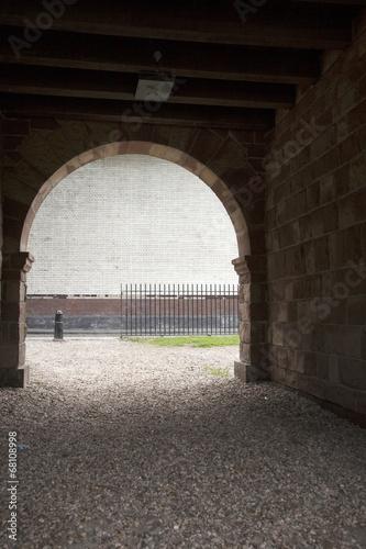 Leinwanddruck Bild White Urban Wall