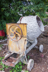 Abandon old industrial cement mixer machine