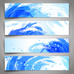 Abstract vector background. Collection of vector banners with bl