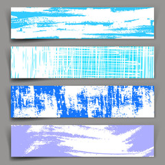 Abstract vector background. Set of vector banners with blue and