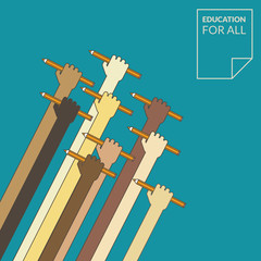 Education for all. Flat design concept for education.