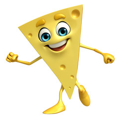 Cheese Character with is running