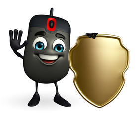 Computer Mouse Character with shield
