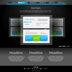 website template for designers, you can easy all elements editab