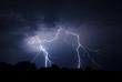 Leinwandbild Motiv Lightning Bolt Strike