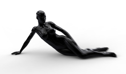 Beautiful dark woman body