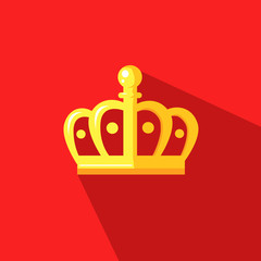 illustration of a crown crown in flat design style