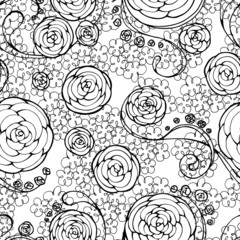 black lace seamless pattern