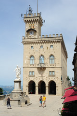 The public palace on Borgo Maggiore at San Marino