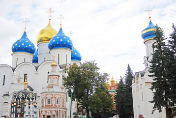 Churches in Trinity Sergius Lavra. UNESCO Heritage.