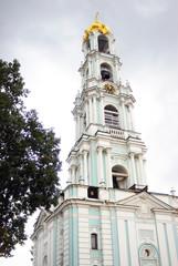 Bell-tower in Trinity Sergius Lavra. UNESCO heritage.