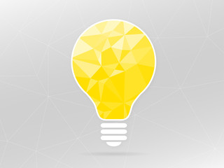 Geometric Light Bulb Graphic