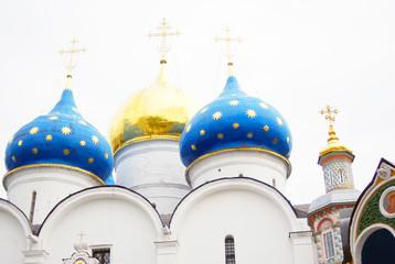 Church Domes in Trinity Sergius Lavra
