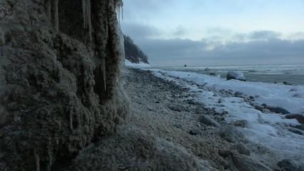 Tauwetter an der Steilküste