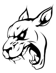 Panther puma or wildcat mascot