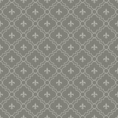 White and Dark Gray Fleur-De-Lis Pattern Textured Fabric Backgro