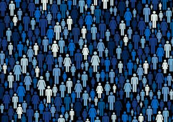 Multitud azul