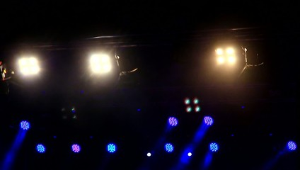 Lights on the stage.