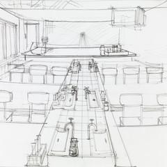 empty school science laboratory