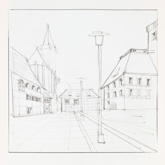 Brasov downtown sketch