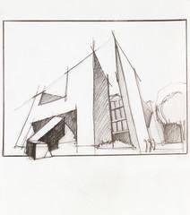 modern, futuristic building