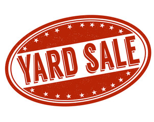 Yard sale stamp