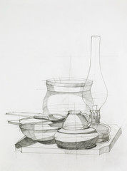 still life with objects