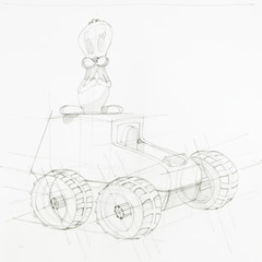 blueprint of toy car