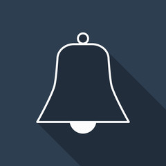 bell icon with long shadow
