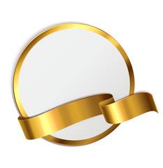 Signet mit Banderole - Gold