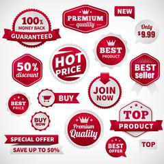 vector price offer banner labels set